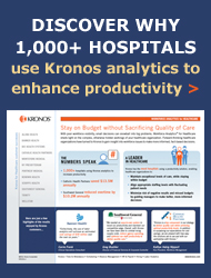 Discover Why 1,000+ Hospitals use Kronos Analytics