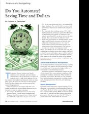 Do You Automate? Saving Time and Dollars