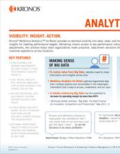 Workforce Analytics for Retail Product Slick