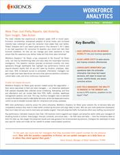 Workforce Analytics for Retail Datasheet