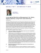 Leveraging Workforce Management for Safer, High-Quality Long-Term Care Delivery