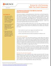 Kronos for Life Sciences R&D Tax Credit Datasheet