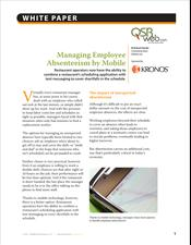 Managing Employee Absenteeism by Mobile