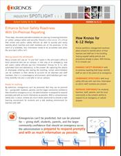 Industry spotlight - K-12: Enhance School Safety Readiness With On-Premise Reporting