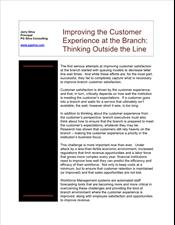Improving Customer Experience at the Branch: Thinking Outside the Line