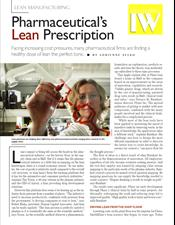 Pharmaceutical's Lean Prescription