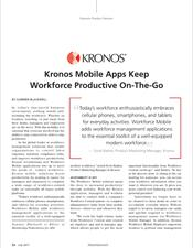 Kronos Mobile Apps Keep Workforce Productive On-The-Go