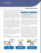 Workforce Analytics™ for Retail Data Sheet