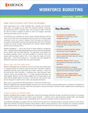 Workforce Operations Planner™ Datasheet