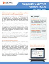 Workforce Analytics for Healthcare Datasheet