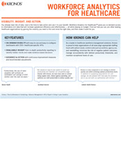Workforce Analytics for Healthcare Product Information Sheet