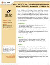 Allina Hospitals and Clinics Improves Productivity and Accountability with Kronos for Healthcare