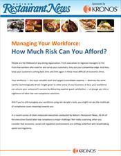 NRN reprint: Managing Your Workforce: How Much Risk Can You Afford?