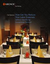 Dining Full Service Brochure (reduce labor without sacrificing service)