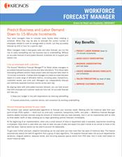Workforce Forecast Manager Data Sheet