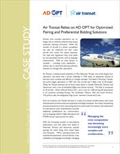 Air Transat Relies on AD OPT for Optimized Pairing and Preferential Bidding Solutions