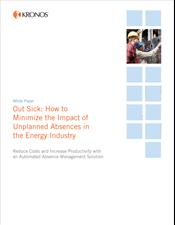 Out Sick: How to Minimize the Impact of Unplanned Absences in the Energy Industry