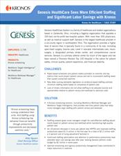 Genesis HealthCare Sees More Efficient Staffing and Significant Labor Savings with Kronos