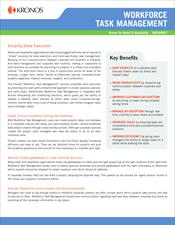 Workforce Task Management Datasheet