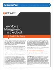 Workforce Management in the Cloud: A Great Fit for Dining