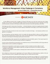 Workforce Management: A Key Challenge in Corrections