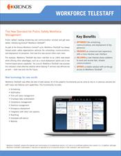 Workforce TeleStaff Datasheet (version highlights)