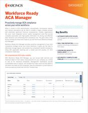 Kronos Workforce Ready ACA Manager Datasheet