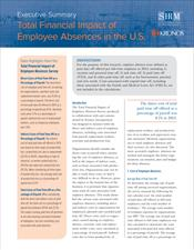 The Total Financial Impact of Employee Absences — Executive Report for United States
