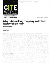Why this trucking company switched its payroll off ADP