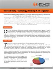 Research Brief: Public Safety Technology: Putting It All Together
