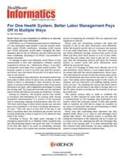 For One Health System, Better Labor Management Pays Off in Multiple Ways
