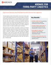 Kronos for Third-Party Logistics Industry Brief