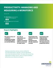 Productivity: Managing and Measuring a Workforce