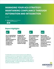 Managing Your ACA Strategy: Maintaining Compliance Through Automation and Integration