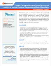 Plastipak Packaging Leverages Kronos Services and Analytics to Improve Workforce Management and Control Labor Costs