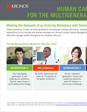 Human Capital Management for the Multigenerational Workforce