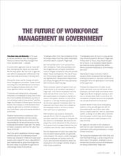 The Future of Workforce Management in Government