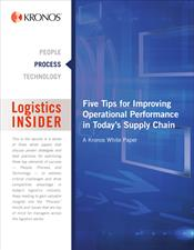 Logistics Insider: Five Tips for Improving Operational Performance in Today's Supply Chain