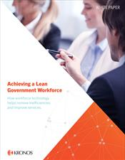 Achieving a Lean Government Workforce