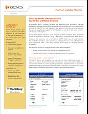 webTA Mobile Datasheet (BlackBerry version)